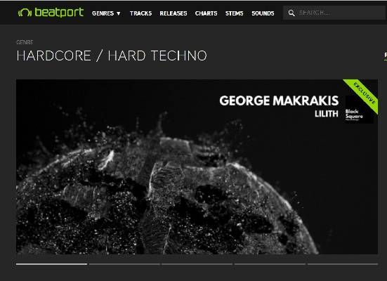 Lilith EP ON THE Front Page at Beatport